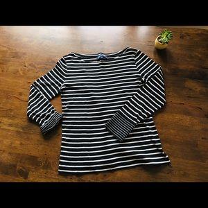 Jones New York Long sleeve striped top